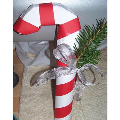 Weihnachtsgeschenke: Verpackung als Zuckerstange