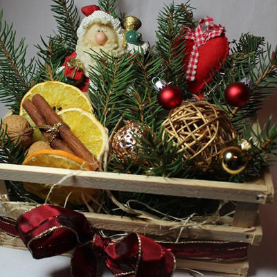 [Weihnachten] Dekoration aus Naturmaterialien