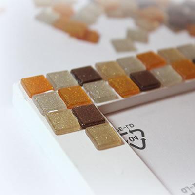 [DIY] Bilderrahmen mit Mosaikoptik