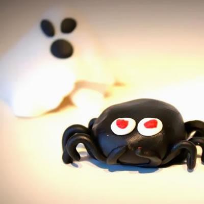 [Halloween] Spinnen und Geister aus Fimo