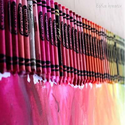 [Geschenkidee] Cranyon Colour – Regenbogenbild aus Wachsmalstiften