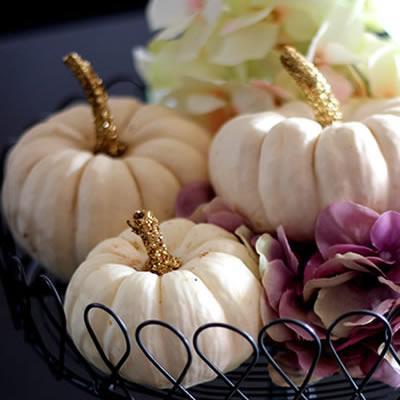 [Herbst] Glitzernde Baby-Boo Kürbisse