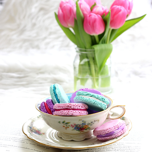 Niedliche Macarons aus Fimo